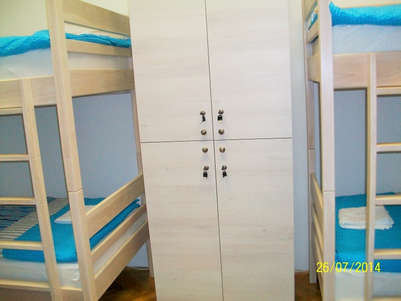 Lockers at the hostel