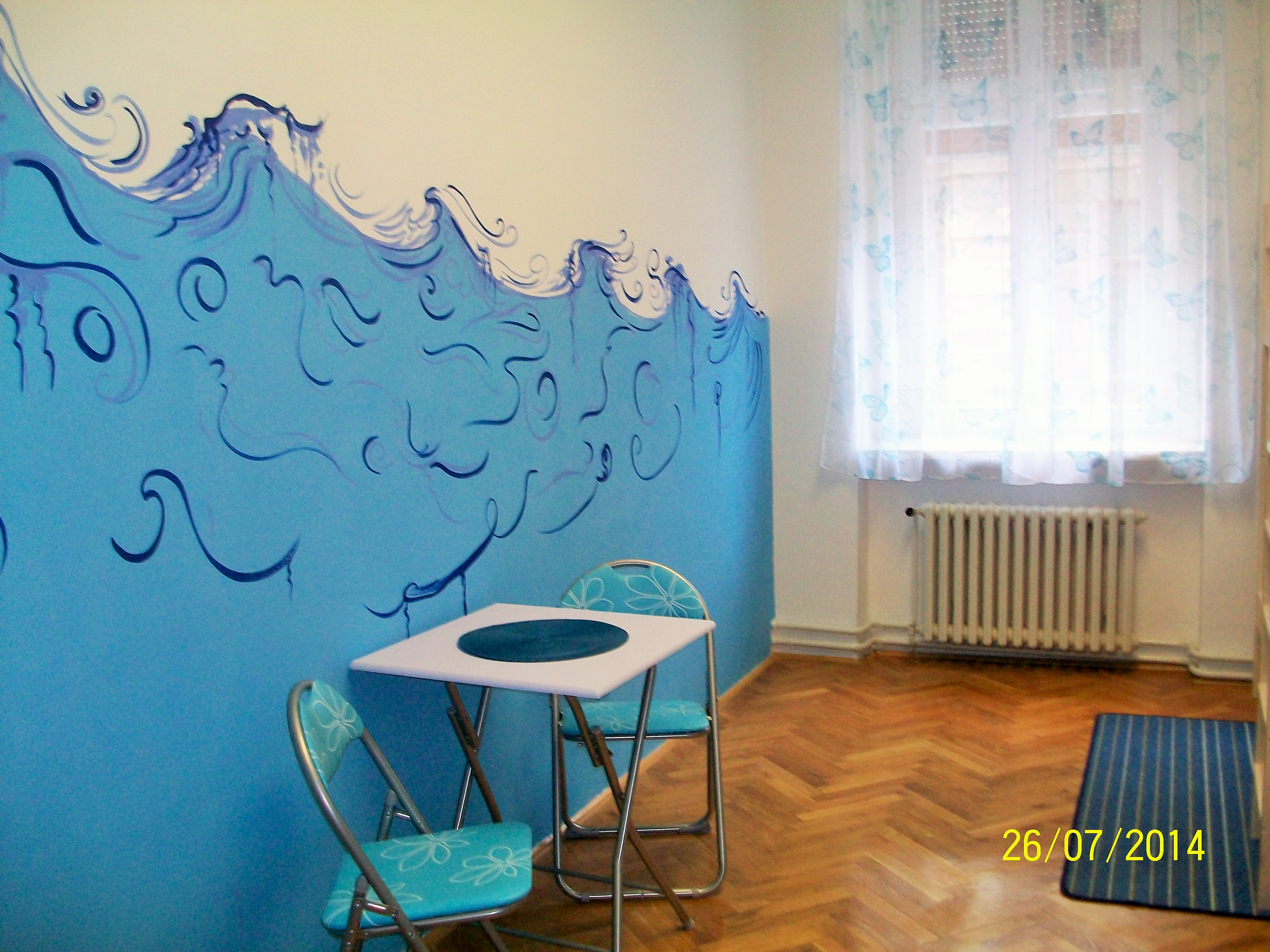 Interior room in the hostel Zagreb