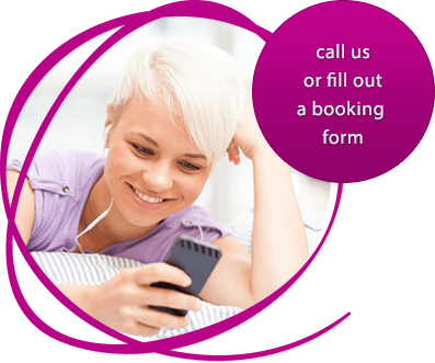 Contact information and booking
